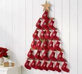 Pottery Barn Stocking Tree Advent Calendar