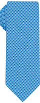 Blue Double Dot Printed Silk Twill Tie