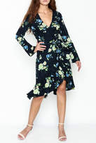 Lucy Paris Dark Floral Wrap Dress
