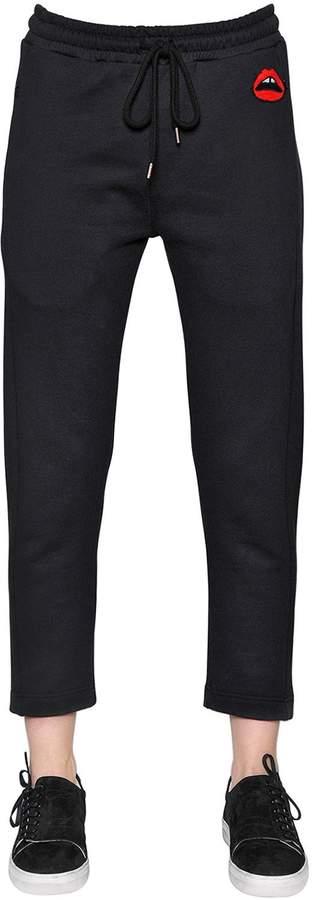 Markus Lupfer Lips Patch Cotton Sweatpants