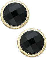 Charter Club Gold-Tone Jet Stone Button Clip-On Earrings