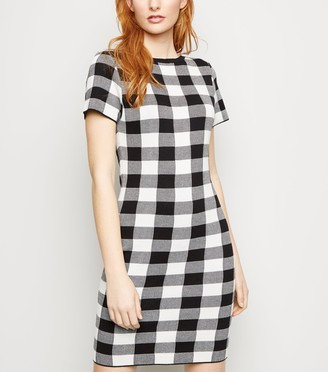New Look Gingham Knitted Bodycon Dress