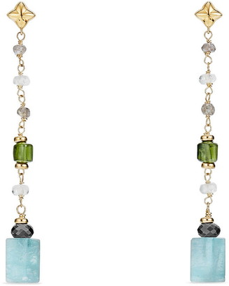David Yurman Bead & Chain Earrings with Semiprecious Stones