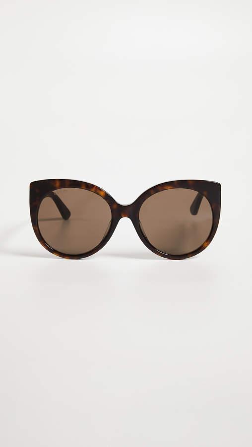 c72a89b3444dd Gucci Havana Cat Eye Sunglasses - ShopStyle