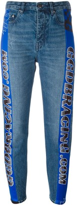 Golden Goose Racing Stripe Tapered Jeans