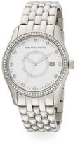 Saks Fifth Avenue Swarovski Crystal Stainless Steel Bracelet Watch