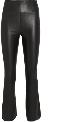 Sprwmn Cropped Flare Leather Leggings