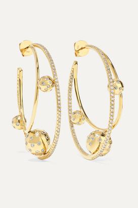 Ofira Solar 18-karat Gold Diamond Earrings - one size
