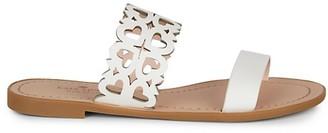 Kate Spade Ambrosia Flat Cutout Leather Sandals