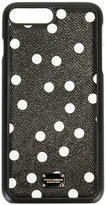 Dolce & Gabbana polka dot iPhone 7 Plus case - women - Calf Leather/plastic - One Size