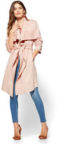 New York & Co. Ultra-Suede Open-Front Trench Coat