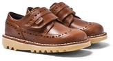 Kickers Tan Leather Kick Longwing Velcro Brogues