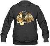 HDFGFJJSSBF Women's Chicago hawks Gold Style Logo Hoodie