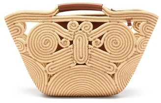 Anya Hindmarch Trivet Small Braided-rope And Leather Tote - Womens - Beige