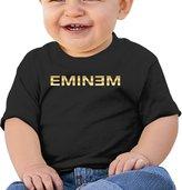 MAUCRCT Eminem Gold Logo Unisex Baby T Shirt