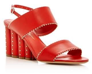 Salvatore Ferragamo Women's Gavi Leather Floral Wedge Slingback Sandals