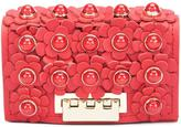Zac Posen flower embellished clutch