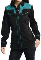 Roper Floral Embroidery Western Shirt - Snap Front, Long Sleeve (For Women)