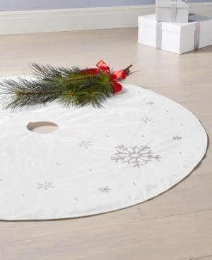 Holiday Lane Blue Snowflake Tree Skirt, Created for Macy's