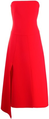 A.W.A.K.E. Mode Strapless Midi Dress