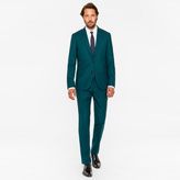 Paul Smith The Soho - Men's Tailored-Fit Dark Green Wool 'Suit To Travel In'