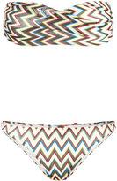 Missoni chevron pattern bikini - women - Nylon/Polyester/Spandex/Elastane/Viscose - 40