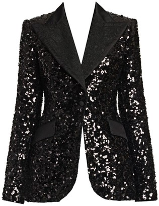 Dolce & Gabbana Long-Sleeve Sequin Jacket