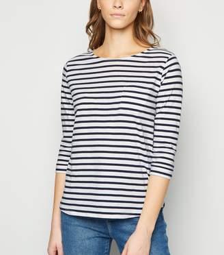 New Look Stripe 3/4 Sleeve T-Shirt