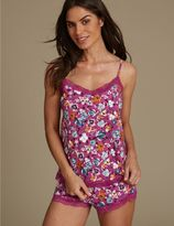 Marks and Spencer Artiste Print Camisole & French Knickers