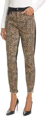Alice + Olivia Jeans Good High Waist Leopard Print Skinny Jeans