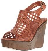 Very Volatile Women's Inventive Wedge Sandal,10 B US