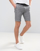 Bellfield Tailored Shorts With Belt