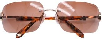 Tiffany & Co. Brown Metal Sunglasses