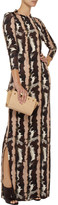 Suno Printed jersey maxi dress