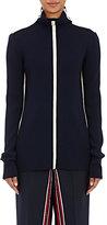 Cédric Charlier Women's Appliquéd Mock-Turtleneck Sweater-NAVY
