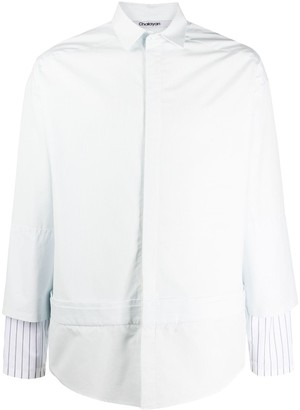 Chalayan Striped Sleeve Double-Layer Shirt