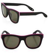 Givenchy 52MM Rubber Wayfarer Sunglasses