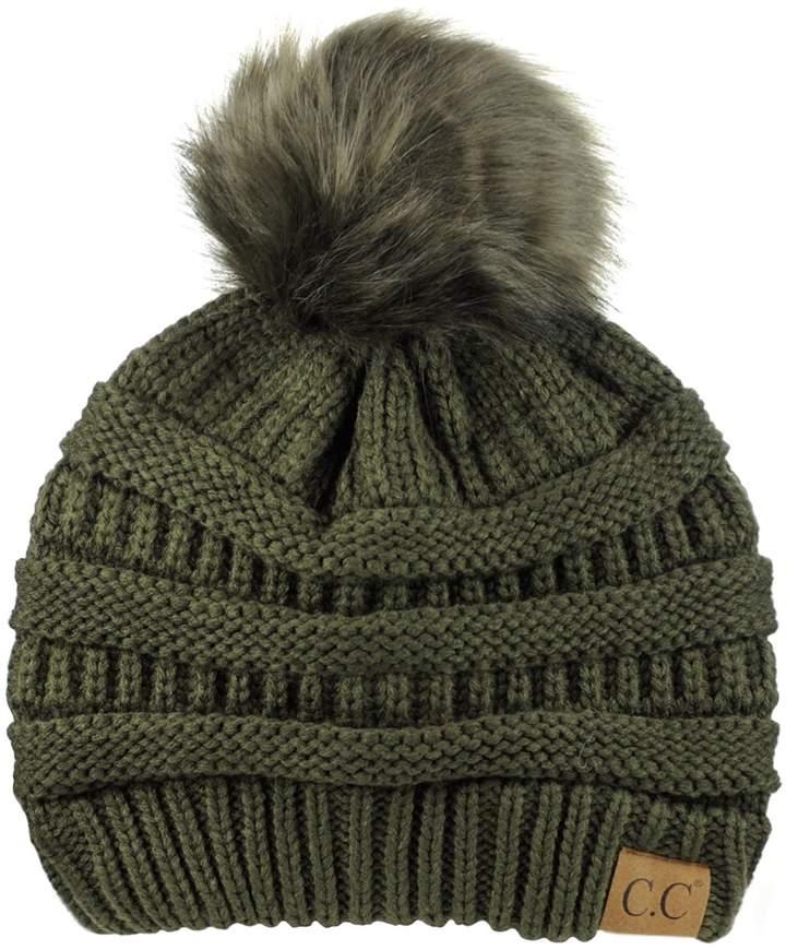 f010becb36be0 Fur Pom Pom Beanie Hat - ShopStyle Canada