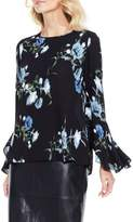 Vince Camuto Petite Women's Windswept Bouquet Bell Sleeve Blouse