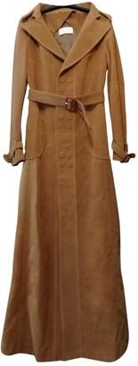 Maison Margiela Camel Leather Coats