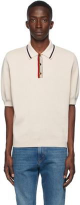 Gucci Beige Fine Cotton Knit Polo