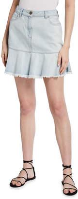 MICHAEL Michael Kors Flounce Denim Mini Skirt