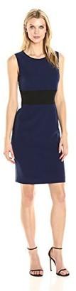 Kasper Women's Rounded Neck Color Block Dress