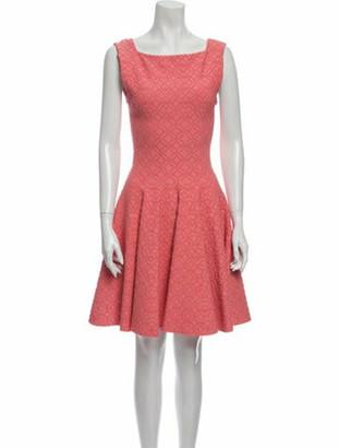 Alaia Printed Mini Dress Pink