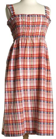 Salvage Style & '70s Plaid Sun Dress M-L