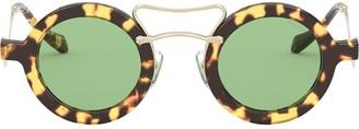Miu Miu Scenique round frame sunglasses