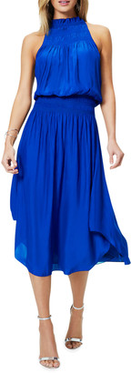 Ramy Brook Carlie Smocked-Waist Midi Dress