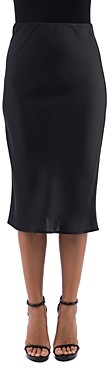 Bobeau B Collection By B Collection by Lyndon Bias-Cut Midi Skirt
