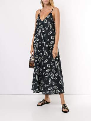 The Upside Alani shell-print midi-dress