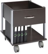 Office Star Products X-Text Rolling File Cabinet in Espresso